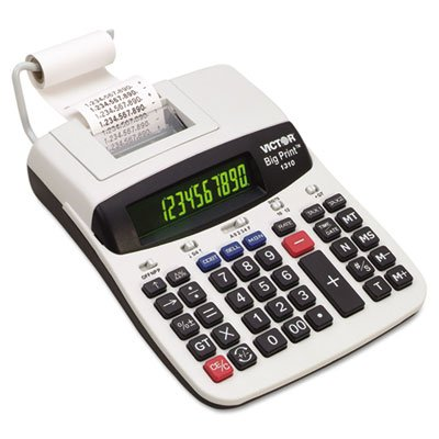 1310 Big Print Commercial Thermal Printing Calculator, Black Print, 6 Lines/Sec, Sold as 2 Each