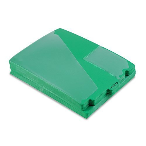Pendaflex - End Tab Poly Out Guides, Center OUT Tab, Letter, Green, 50/Box 13543 (DMi BX by Pendaflex