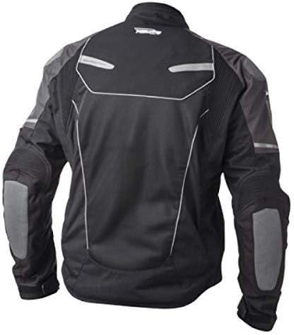 Grey, Large HELITE Unisex-Adult Free Air Vented Motorcycle Airbag Jacket
