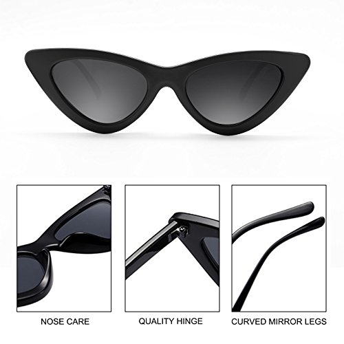 5f74943a7c840 Livhò Retro Vintage Narrow Cat Eye Sunglasses for Women Clout Goggles  Plastic Frame