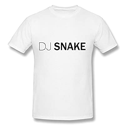 Fanz Men's Electronic Music DJ William Grigahclne DJ Snake Logo T Shirts White