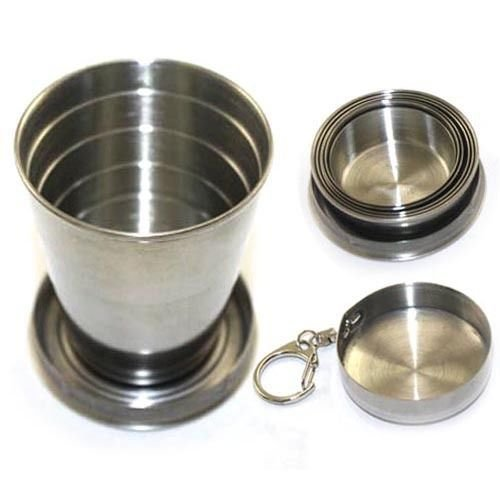 75ml Stainless Steel Travel Portable Folding Telescopic Collapsible Cup
