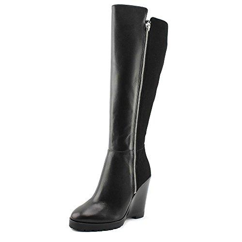 MICHAEL Michael Kors Womens Clara Leather Closed Toe Knee High Fashion Boots Black rJjjNU