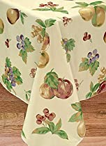Apple Delicious Flannel Backed Vinyl Tablecloth, 52X90 Oval