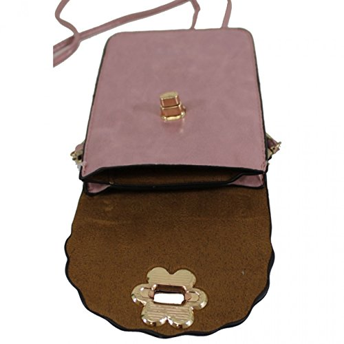 Small Case LeahWard Phone 828 Men's Bag LeahWard Phone Women's Mini Crossbody Button Uni Brown Bags Sex Body Bag Across Fuchsia dtqd5x
