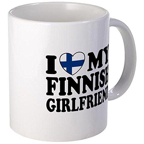 (CafePress I Love My Finnish Girlfriend Mug Unique Coffee Mug, Coffee Cup)