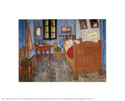 The Bedroom at Arles, c.1887 Fine Art Poster Print by Vincent van Gogh