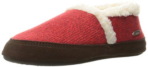 ACORN Women's Moc Ragg, Red Ragg Wool, Large / 8-9