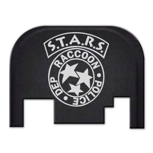 Glock Cover Plate - BASTION Laser Engraved Rear Cover Back Plate for Glock Gen 1-4 ONLY; Model Compatibility in Description Below. Does not fit Glock G42, G43, G43X, G48 - Stars Raccoon