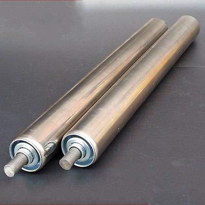FidgetFidget 38mm Dia Stainless Steel Heavy Duty Assembly Line Conveyor Roller 200-700mm 38200mm 1Pcs