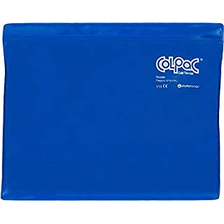 Chattanooga ColPac - Reusable Gel Ice Pack - Blue Vinyl - Standard - 11 in x 14 in (28 cm x 36 cm) - Cold Therapy for Knee, Arm, Elbow, Shoulder, Back for Aches, Swelling, Bruises, Sprains, Inflammation
