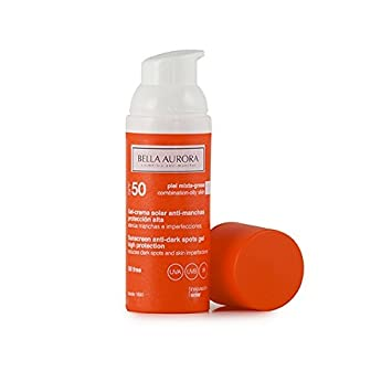 Bella Aurora Solar Sunscreen Gel-Cream. Combined-Oily Skin SPF 50+.