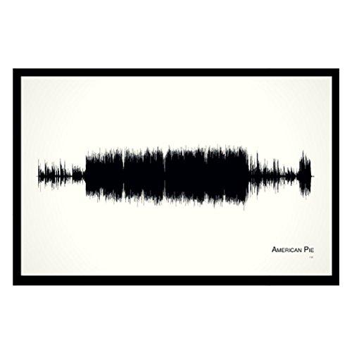 American Pie - 11x17 Framed Soundwave print