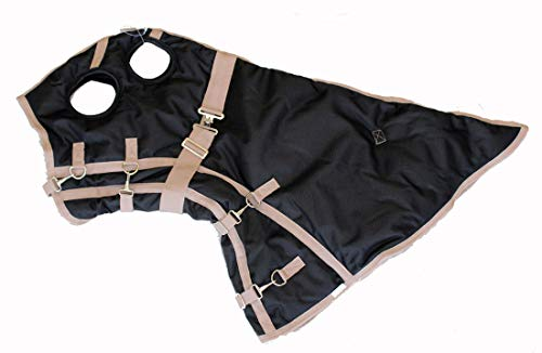 AJ Tack Wholesale Horse Turnout Winter Blanket Hood Neck Cover Waterproof Ripstop 1200D Black Large
