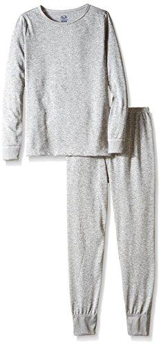 (Fruit of the Loom Girls' Big Performance Thermal Underwear Set, Heather Grey, 14/16)