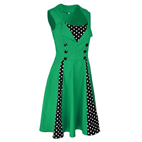 Abiti Da Cocktail Partito Verde Valzer Donne Gonna Costumi Blesiya Vintage UMqjpGLSzV