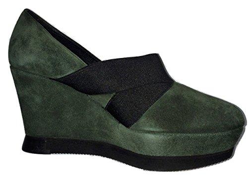 Castaner, Scarpe col tacco donna Green / Black 3 UK / 36 EU