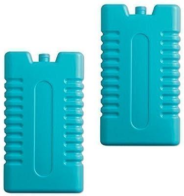 2 x Bloques hielo congelador - bolsa enfriar viaje caja pack ...