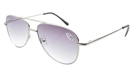 Eyekepper Gafas de sol de lectura hombre estilo Piloto marco en metal con bisagras de resorte +1.5
