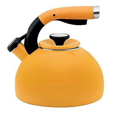 Circulon 2-Quart Morning Bird Teakettle, Mustard Yellow