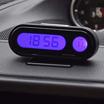 FidgetFidget High Bright LED Display Vehicle Auto Digital Electronic Clock Thermometer