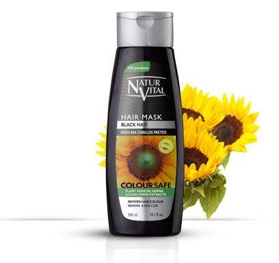 Colouring Hair Mask - Repairs and Colours - 300 Ml / Natural & Organic. (Black Hair)