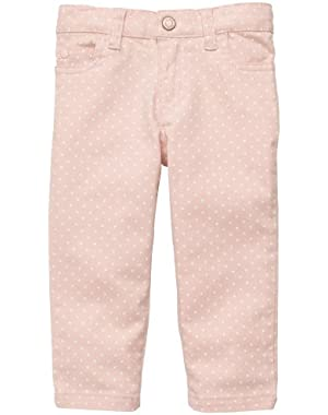 Baby-girls Mini Blues Polka Dot Colored Denim