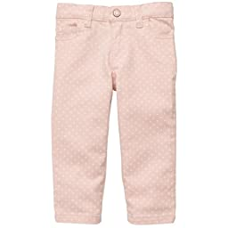 Carter's Baby Girls Mini Blues Polka Dot Colored Denim (3M-24M) (3 Months, Pink)