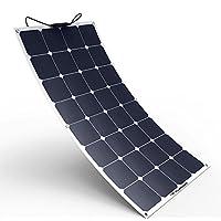 ALLPOWERS Panel solar 100W 18V 12V Cargador solar flexible flexible SunPower Módulo solar con MC4 para RV, barco, cabina, tienda, automóvil, remolque, batería de 12 V o cualquier otra superficie irregular