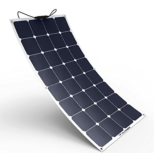 ALLPOWERS Solar Panel 100W 18V 12V Bendable Flexible Solar Charger SunPower Solar Module with MC4 for RV, Boat, Cabin, Tent, Car, Trailer, 12v Battery or Any Other Irregular (Solar Module Efficiency)