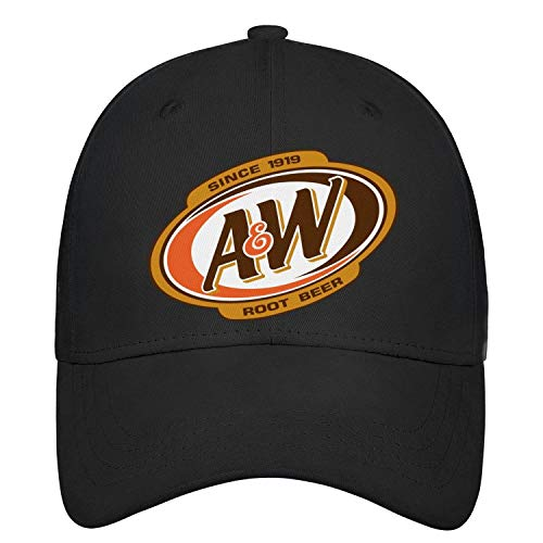 (Unisex Women's Vintage Baseball Cap A&W-Root-Beer-Logo- Outdoor Distressed Cotton Adult Cap)