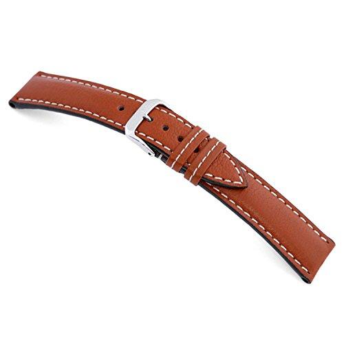Cognac Buffalo Leather - 22mm RIOS1931 Cognac Montana - Genuine Buffalo Leather Watch Band 114x82