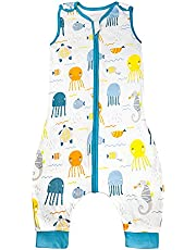 MooMoo Baby Swaddle Sleep Sack with Feet Easy Adjustable Sleeveless Swaddle Wrap Pants Unisex Infant Wearable Sleeping Bag for Boy and Girl