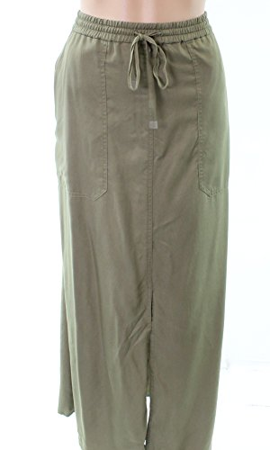 (LAUREN RALPH LAUREN Womens Karlon Cargo Twill Maxi Skirt Green XS )