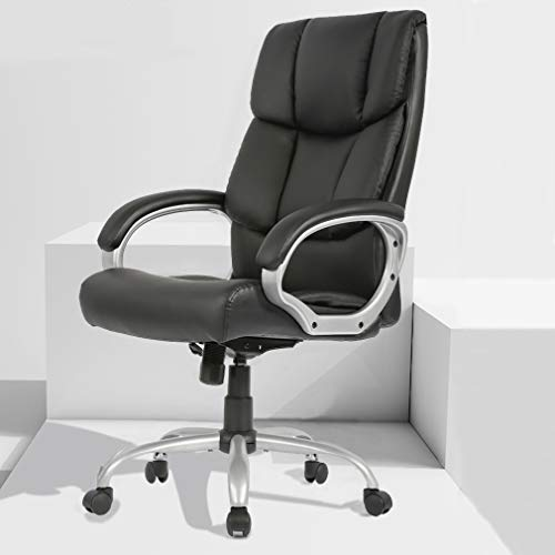 BestMassage Office Chair High Back Desk Computer Ergonomic Task Executive Chair with PU Leather for Home Furniture