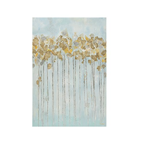 Madison Park Minted Forest Hand Embellished Canvas Wall Art 24X36, Contemporary Transitional Wall Décor