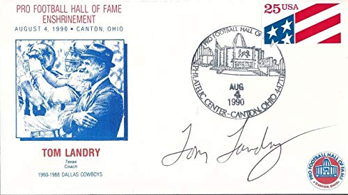 Tom Landry Cowboys Autographed Signed Memorabilia First Day Cover Autograph Auto - PSA/DNA Authentic