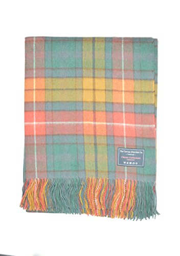 The Tartan Blanket Co. Lambswool Knee Blanket Buchanan Antique Tartan (Wool Blanket Antique)