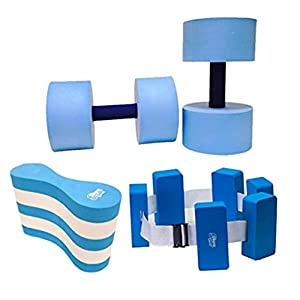 Well-Being-Matters 41iji34YDdL._SS300_ Sunlite Sports High-Density EVA-Foam Dumbbell Set, Water Weight, Soft Padded, Water Aerobics, Aqua Therapy, Pool Fitness…