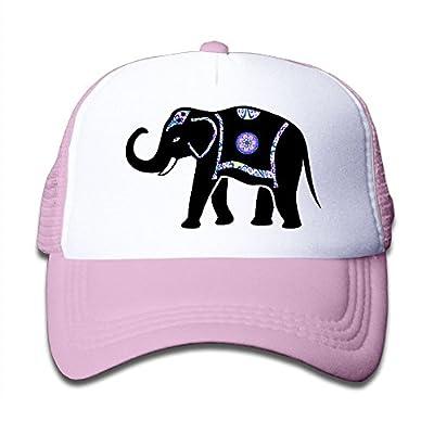 Kocvbng I Elephant Boy and Girl Snapback Mesh Baseball Hat Youth Size Caps