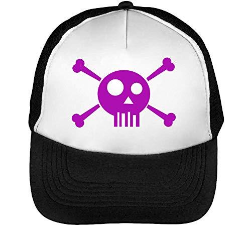 Skull Beisbol Hombre Negro Snapback Graphic Gorras Purple Hipster Blanco Fq5Rwx7