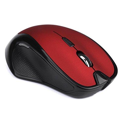 Xusun 2.4GHz 2400 DPI Wireless Optical Mouse Mice + USB Receiver for PC Laptop MAC (Red)
