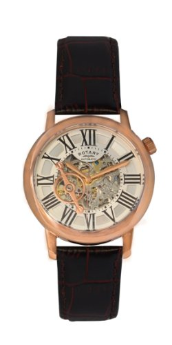 Rotary Men's gle000017/21 Analog Display Chinese Automatic Brown Watch