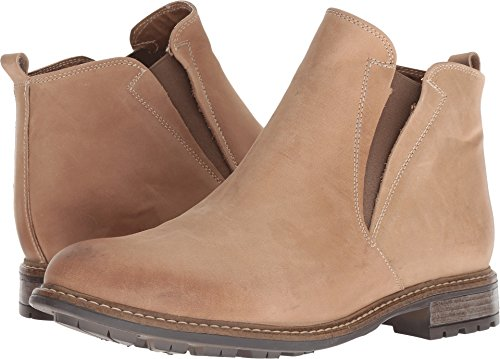 GBX Packer Men's Genuine Leather Chelsea Boots Casual Slip On Ankle Boots Stone 10 M US