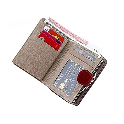 Amazon.com: Cow Leather Wallet Female Wallets with Zipper ...