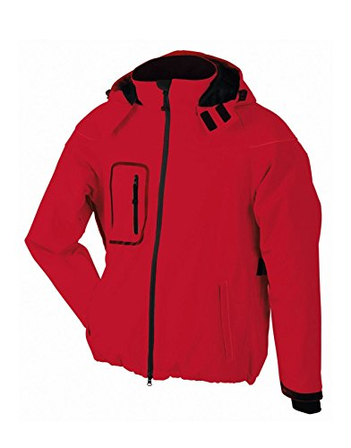 Giacca In Winter Jacket Invernale Red Softshell Uomo Men's ppqxUTwFR