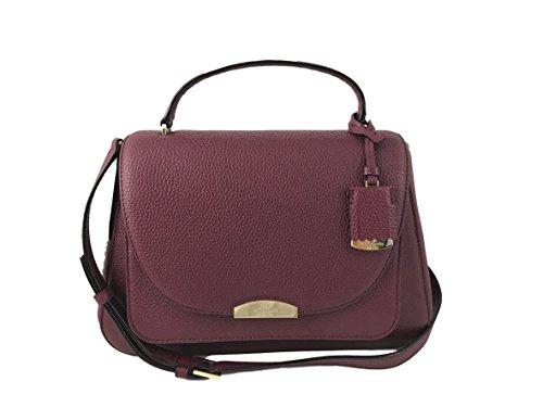 Kate Spade New York Alexya Pine Grove Way Pebbled Leather Shoulder Bag Handbag, Merlot by Kate Spade New York