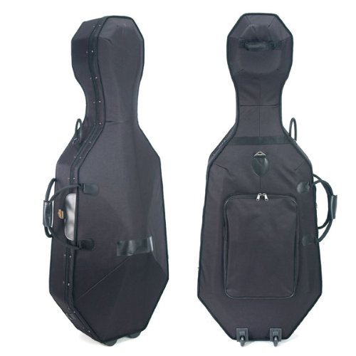 Cecilio CHC-50C Lightweight Cello Hard Case with Wheels, Size 4/4 (Full Size) CHC-50C_4/4