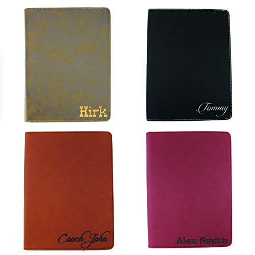 Monogrammed Portfolio with Zipper, Custom Personalized Padfolio Pad Holder