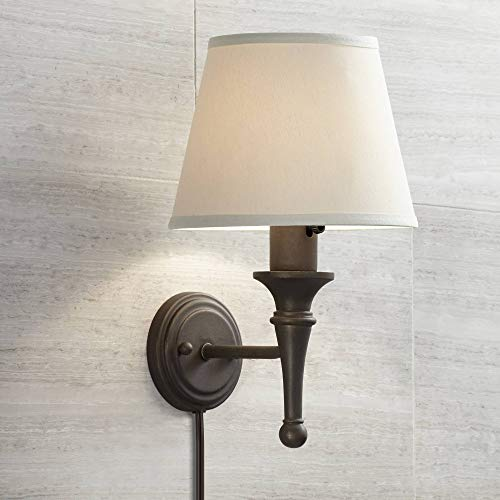Braidy Bronze Plug-in Wall Sconce - Regency Hill